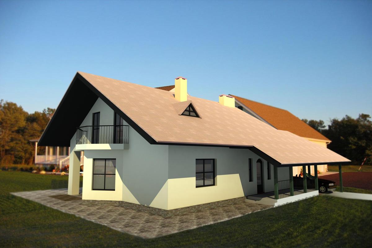 Фото готовых кирпичных домов