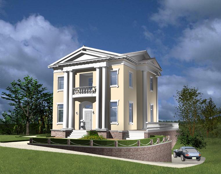 Дизайн загородных домов с мансардой