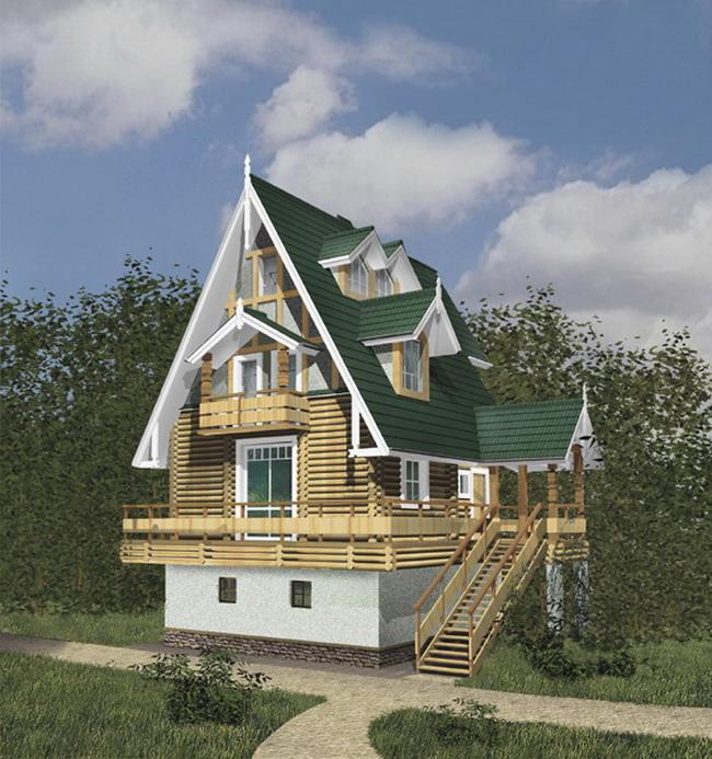 Проекты домов и коттеджей из пеноблоков и газоблоков