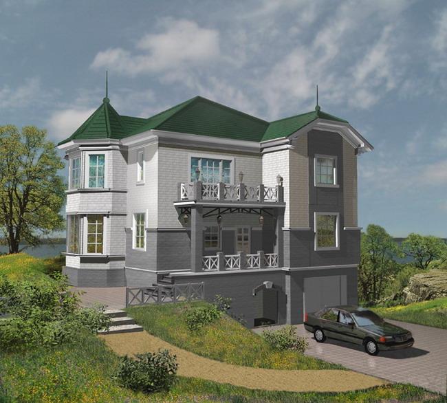 Фото красивых крыш частных домов
