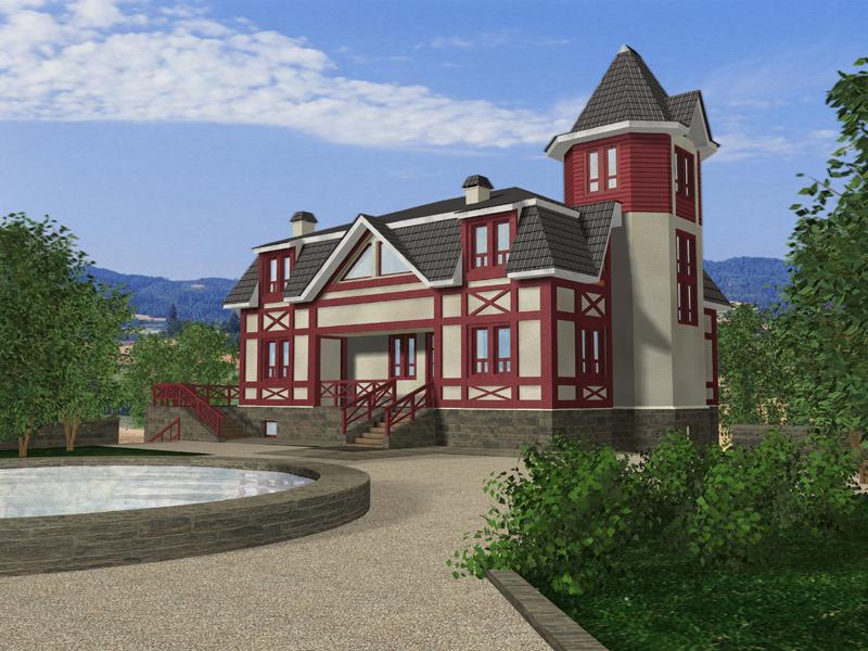 Дачный дом с большой верандой - Архитектурная студия