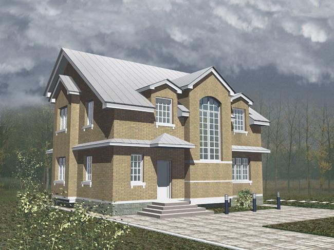Интерьеры одноэтажных загородных домов 139